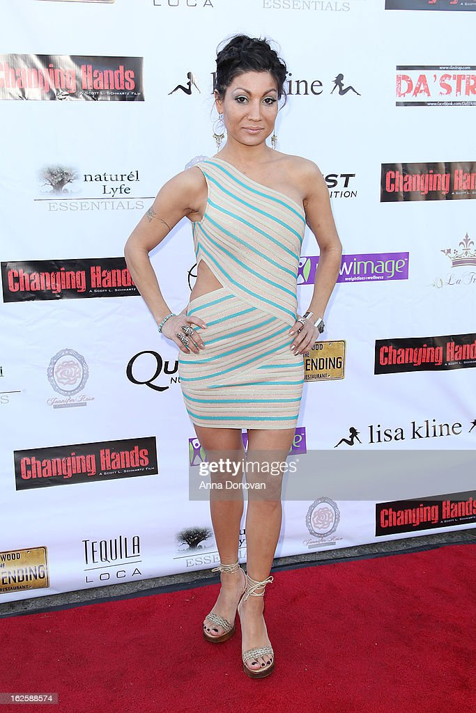 Shams Fire & Water Goddess attends the Los Angeles premiere of the movie 'Changing Hands' at The Happy Ending Bar & Restaurant on February 24, 2013 in Hollywood, California.