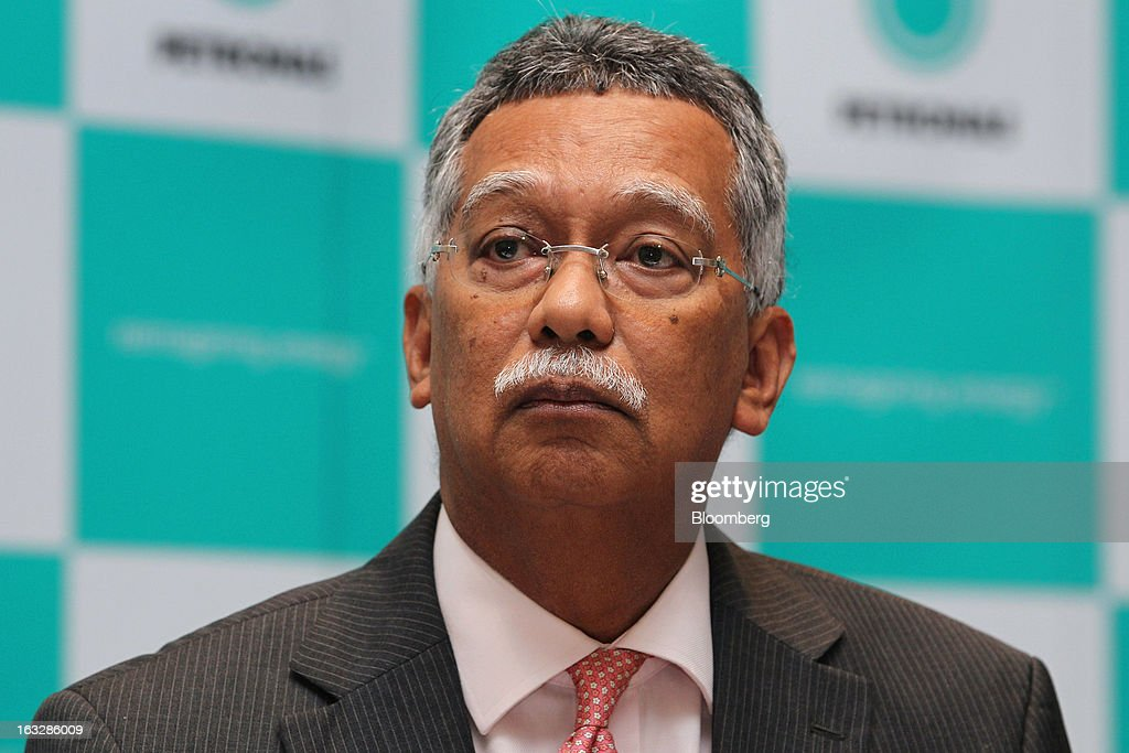 Shamsul Azhar Abbas, chief executive officer of Petroliam Nasional Bhd. (Petronas), attends a news conference in Kuala Lumpur, Malaysia, on Thursday, March 7, 2013. Petronas, Malaysia's state energy company, defended its 8.8 billion ringgit ($2.8 billion) buyout offer price for MISC Bhd. after criticism from minority shareholders that it's too low. Photographer: Goh Seng Chong/Bloomberg via Getty Images