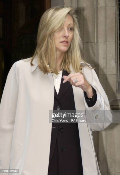 Shan Lambert leaves the High Court in central London where she was trying to secure another 26 million on top of the 75 million she has already been...