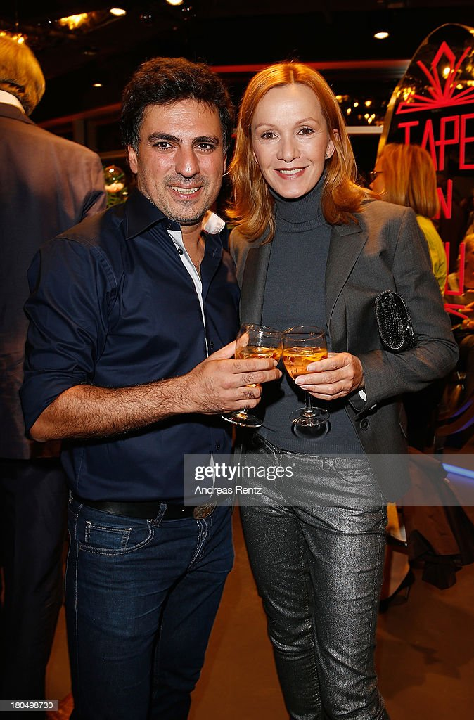 Shan Rahimkhan and Katja Flint attend No1 TRUE BERLIN BY Shan Rahimkhan ghd on September 13 2013 in Berlin Germany