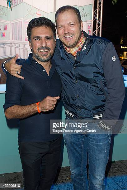 Shan Rahimkhan and Mario Barth attend the True Berlin No 2 by Shan Rahimkhan Ghd on September 10 2014 in Berlin Germany