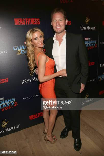 Shana Wall and David Zinczenko attend The Cinema Society with Men's Fitness Muscle Fitness and Remy Martin host a screening of Marvel Studios'...