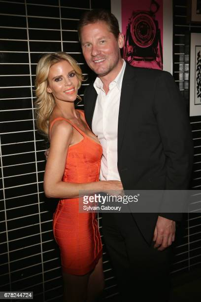 Shana Wall and David Zinczenko attend The Cinema Society with Men's Fitness Muscle Fitness and Remy Martin host the after party for Marvel Studios'...