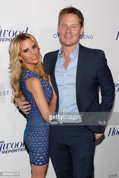 Shana Wall and David Zinczenko attend The Hollywood Reporter 35 Most Powerful People In Media 2017 at The Pool on April 13 2017 in New York City