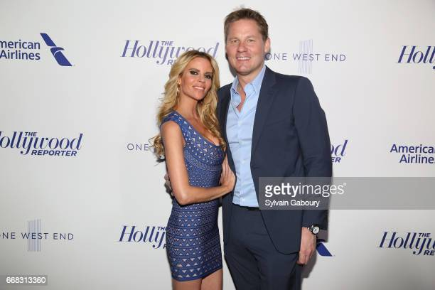 Shana Wall and David Zinczenko attend The Hollywood Reporter's 35 Most Powerful People In Media 2017 on April 13 2017 in New York City