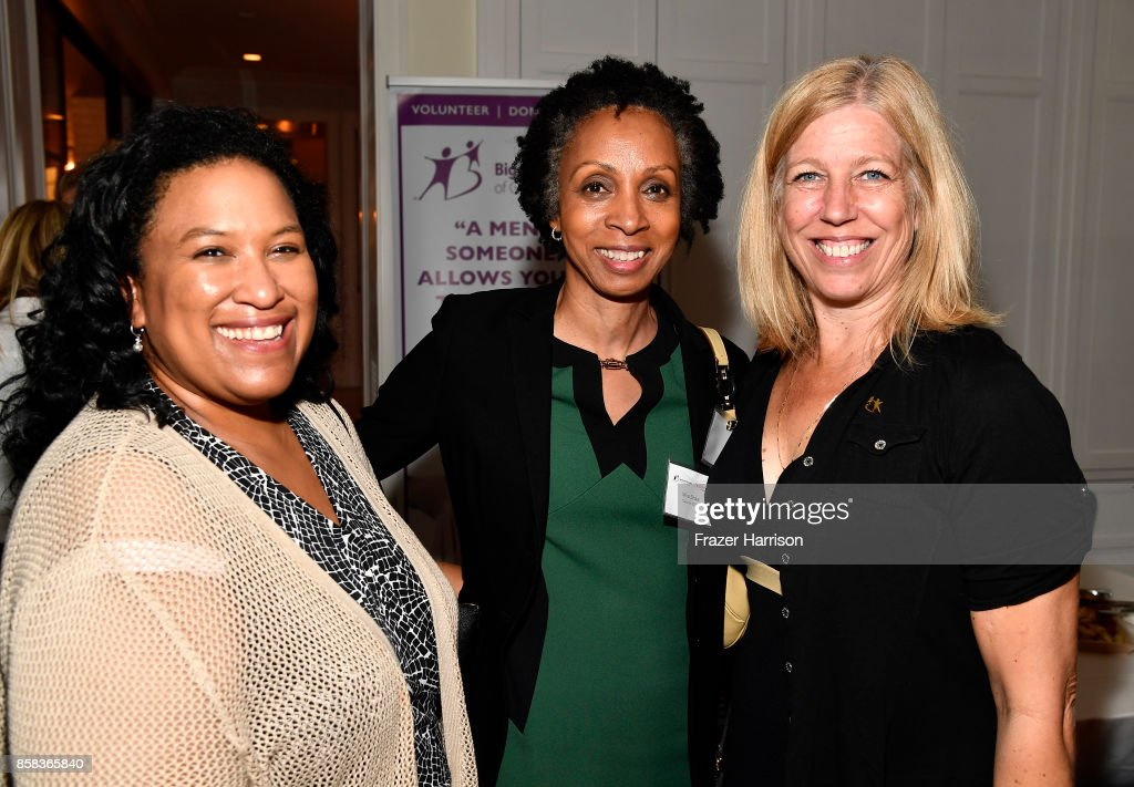 Shana Waterman, Nina Shaw attend BBBSLA And The Hollywood Reporter's Women In Entertainment Mentor Reunion Cocktail Reception at Private Residence on October 5, 2017 in Los Angeles, California.
