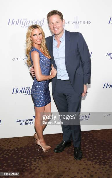 Shana Well and David Zinczenko attend The Hollywood Reporter's 35 Most Powerful People In Media 2017 at The Pool on April 13 2017 in New York City