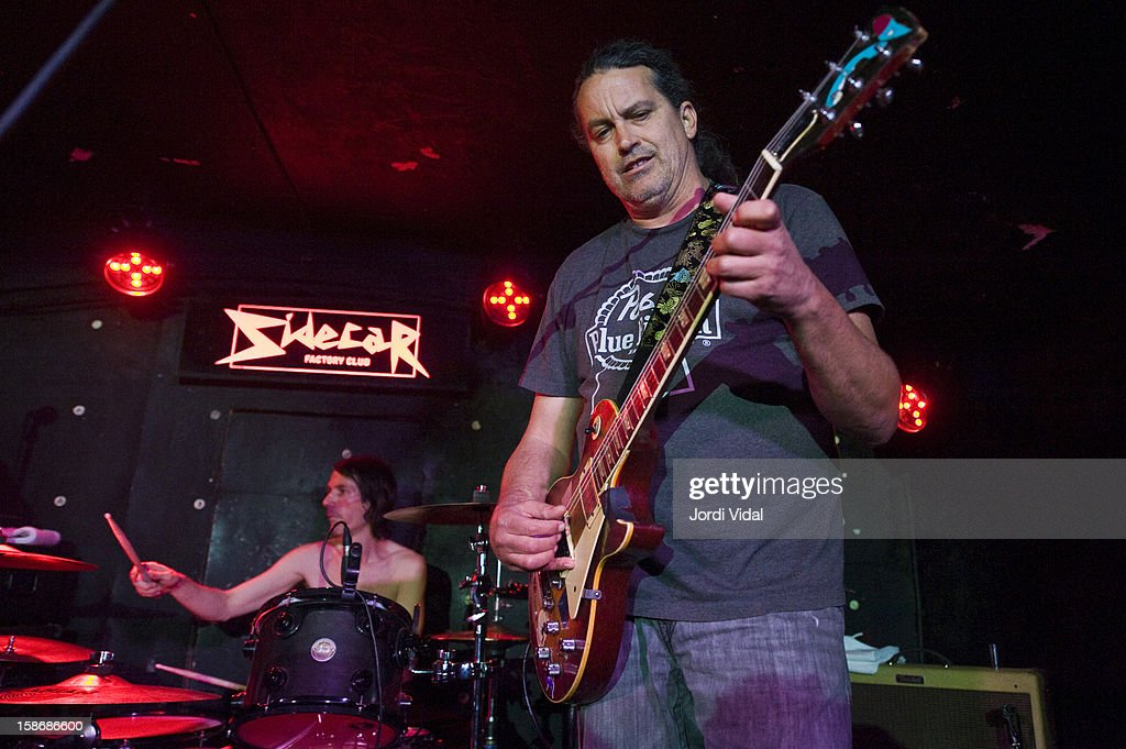 Shandon Sahm and Curt Kirkwood of Meat Puppets perform at Sidecar on December 23, 2012 in Barcelona, Spain.