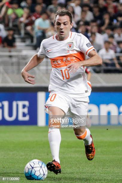 Shandong Luneng FC midfielder Walter Montillo in action during the AFC Champions League 2016 Quarter Final 1st leg between FC Seoul vs Shandong Lunen...