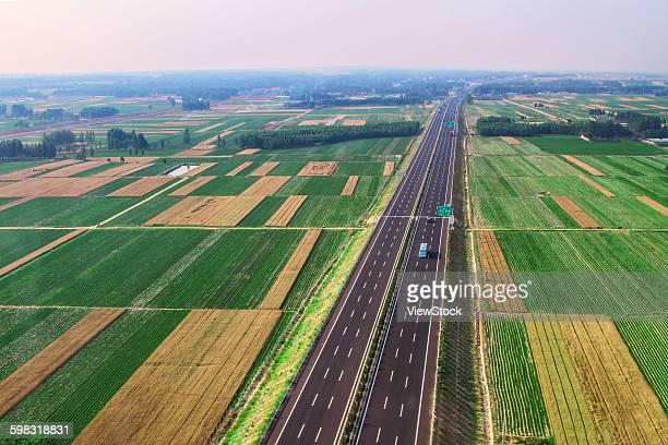 Shandong province Juxian Xiazhuang town on the East High Speed aerial