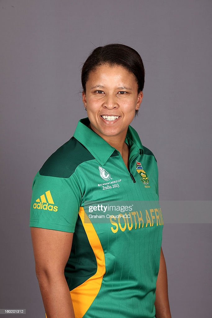 <a gi-track='captionPersonalityLinkClicked' href=/galleries/search?phrase=Shandre+Fritz&family=editorial&specificpeople=2492721 ng-click='$event.stopPropagation()'>Shandre Fritz</a> of South Africa poses at a portrait session ahead of the ICC Womens World Cup 2013 at the Taj Mahal Palace Hotel on January 27, 2013 in Mumbai, India.