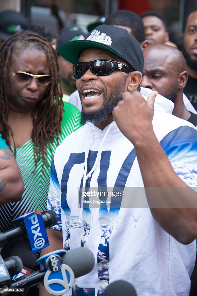 Shanduke McPhatter, brother of shooting victim Ronald McPhatter, attends the National Anti-Violence Community Press Conference at Irving Plaza on May 26, 2016 in New York City.