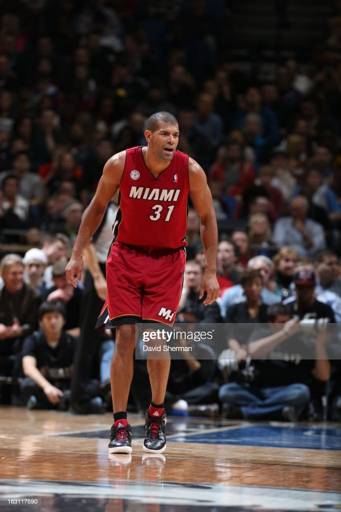 Shane Battier #31 of the Miami Heat looks up court to get ready against the Minnesota Timberwolves during the game on March 4, 2013 at Target Center in Minneapolis, Minnesota.