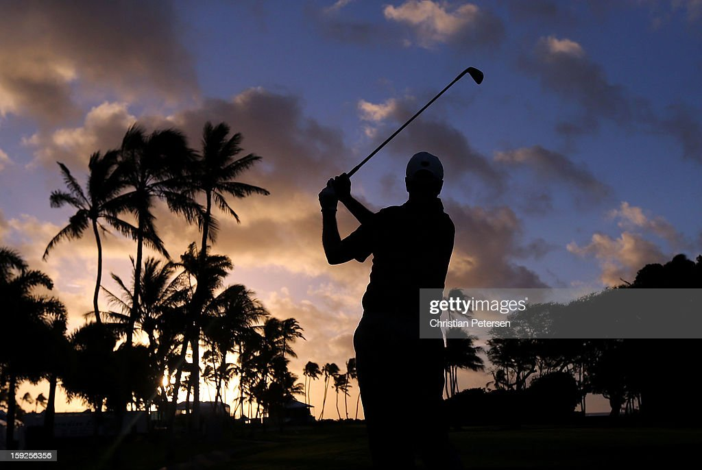 Shane Bertsch hits a tee shot on the 11th hole during the first round of the Sony Open in Hawaii at Waialae Country Club on January 10, 2013 in Honolulu, Hawaii.