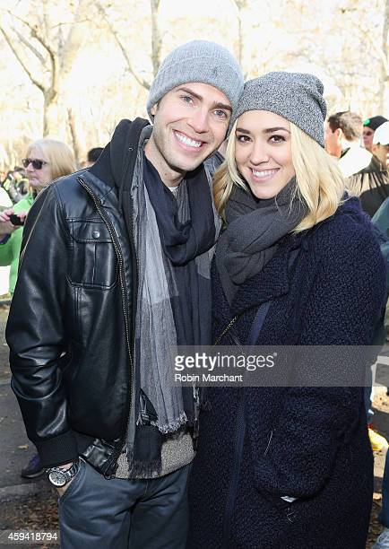 Shane Bitney Crone and Andrea Bowen attend Team 'Elvis Trumps Cancer' Participates In The 2014 St Jude Walk at Cadman Plaza Park on November 22 2014...