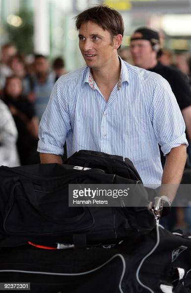 Shane Bond arrives as the New Zealand Black Caps depart for their cricket tour to Pakistan from Auckland International Airport on October 27 2009 in...