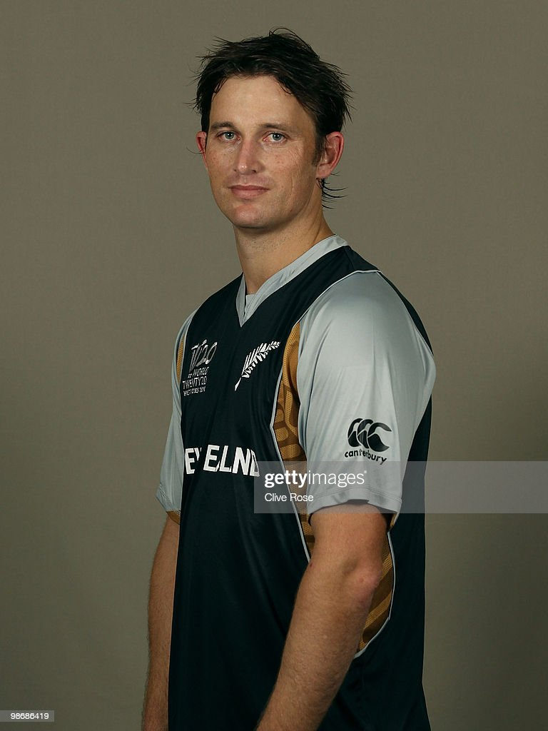 Shane Bond of New Zealand poses during a portrait session ahead of the ICC T20 World Cup at the Pegasus Hotel on April 26 2010 in Georgetown Guyana