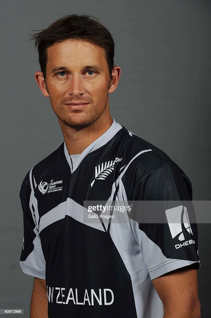 Shane Bond poses during the ICC Champions photocall session of New Zealand at Sandton Sun on September 19 2009 in Sandton South Africa