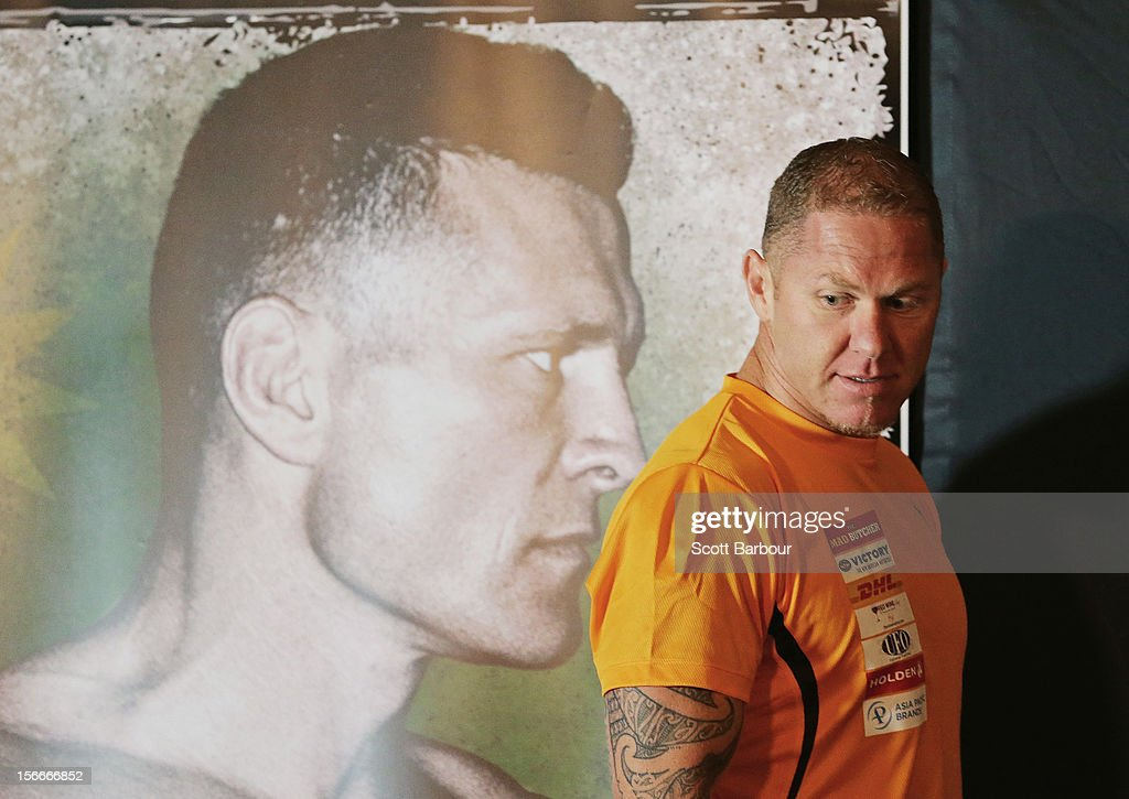 Shane Cameron of New Zealand arrives to attend a press conference at Crown Entertainment Complex on November 19, 2012 in Melbourne, Australia. Danny Green and Shane Cameron meet in an IBO World Title bout on Wednesday.
