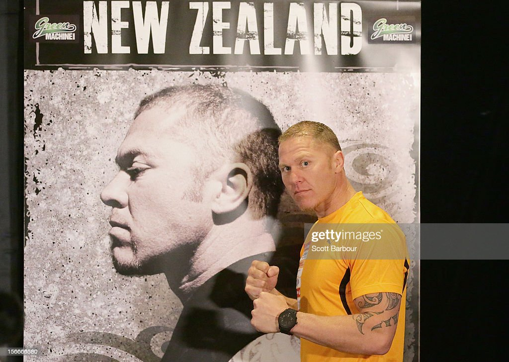 Shane Cameron of New Zealand poses during a press conference at Crown Entertainment Complex on November 19, 2012 in Melbourne, Australia. Danny Green and Shane Cameron meet in an IBO World Title bout on Wednesday.