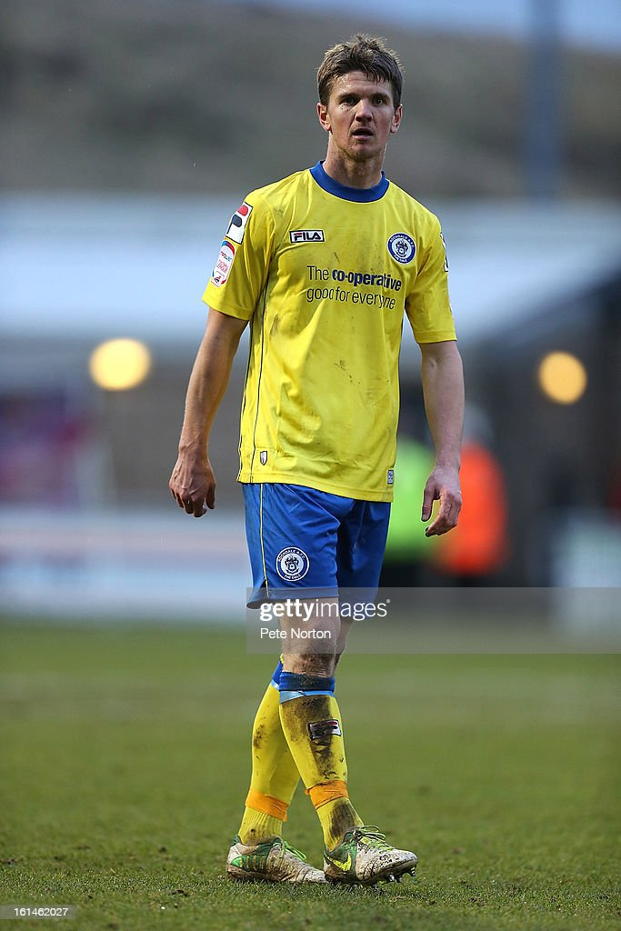 Shane Cansdell-Sherriff of Rochdale in action during the npower League Two match between Northampton Town and Rochdale at Sixfields Stadium on February 9, 2013 in Northampton, England.