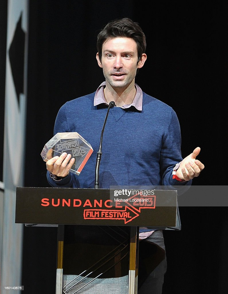 Shane Carruth accepts the U.S. Dramatic Special Jury Award for Sound Design at the Awards Night Ceremony during the 2013 Sundance Film Festival at Basin Recreation Field House on January 26, 2013 in Park City, Utah.