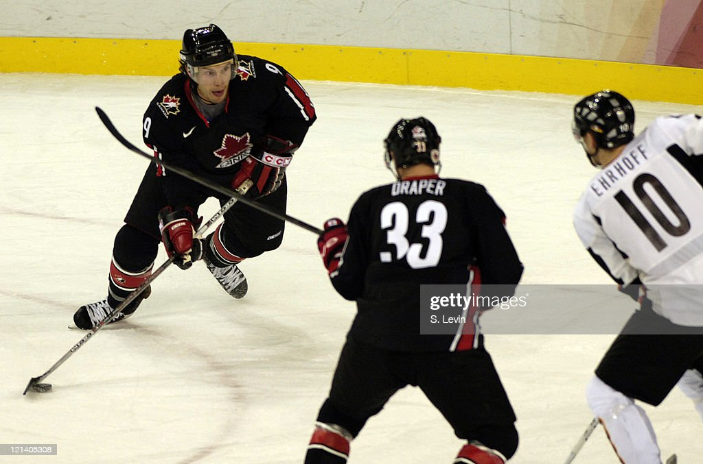 Shane Doan of Canada in action against Germany during the 2006 Olympic Games at Palasport in Torino Italy on February 16 2006