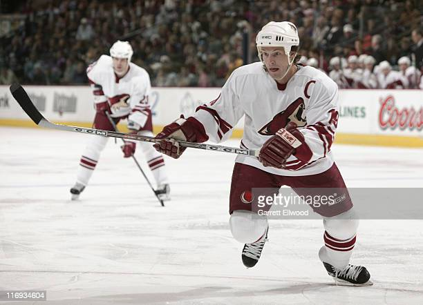 Shane Doan of the Phoenix Coyotes during the game against the Colorado Avalanche on December 26 2005 at Pepsi Center in Denver Colorado