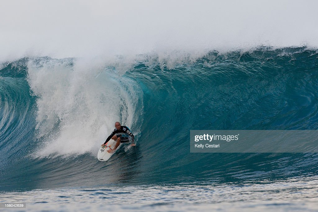 Shane Dorian of Hawaii advanced into Round 4 of the Billabong Pipe Masters in Memory of Andy Irons at Pipeline on December 9, 2012 in North Shore, United States.