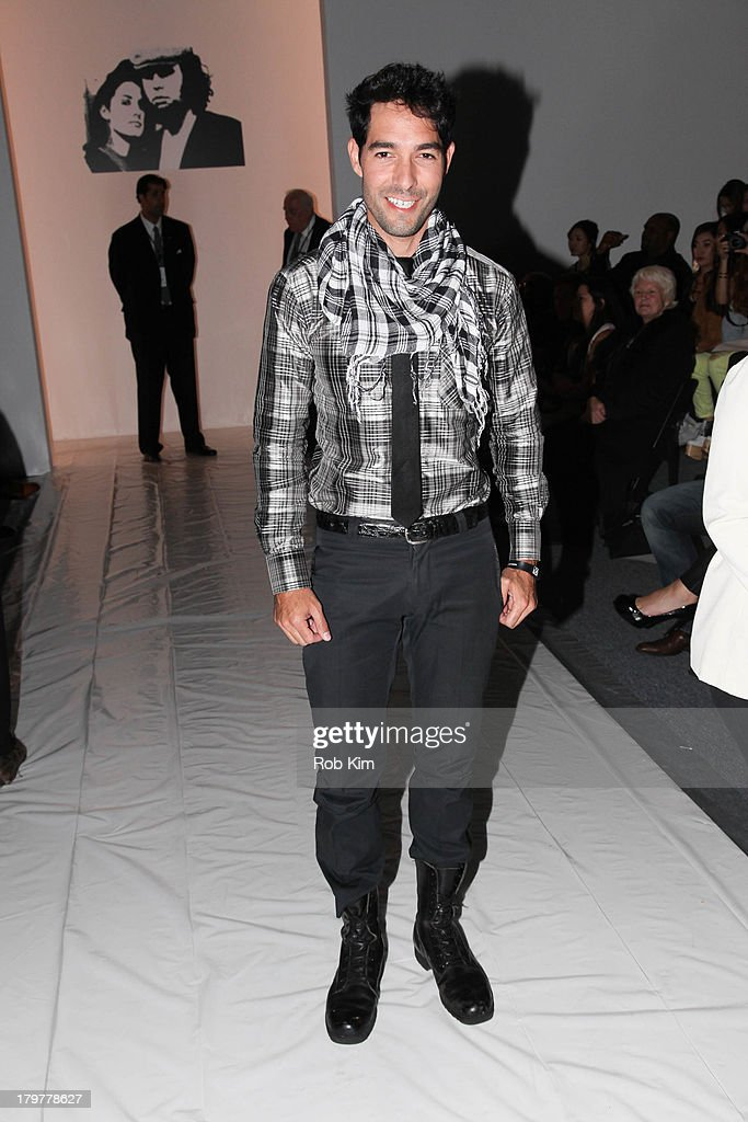 Shane Duffy attends the Mark + Estel show during Spring 2014 Mercedes-Benz Fashion Week at The Studio at Lincoln Center on September 6, 2013 in New York City.