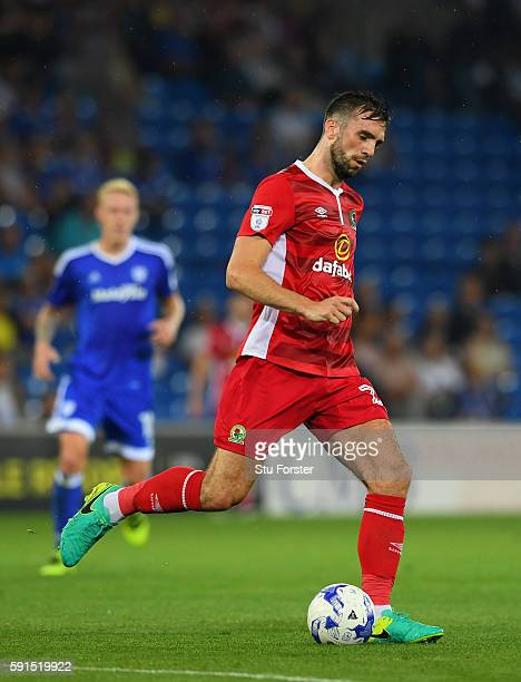 Shane Duffy of Blackburn in action during the Sky Bet Championship match between Cardiff City and Blackburn Rovers at Cardiff City Stadium on August...