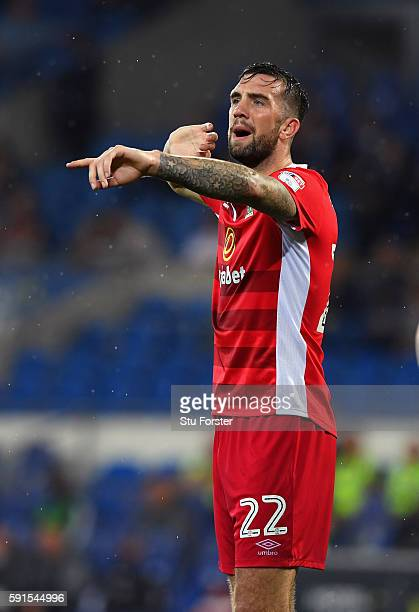 Shane Duffy of Blackburn scorer of two own goals in the match reacts during the Sky Bet Championship match between Cardiff City and Blackburn Rovers...