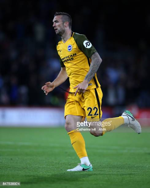 Shane Duffy of Brighton and Hove Albion during the Premier League match between AFC Bournemouth and Brighton and Hove Albion at Vitality Stadium on...