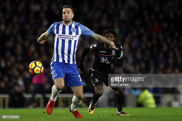Shane Duffy of Brighton Hove Albion in action during the Premier League match between Brighton and Hove Albion and Crystal Palace at Amex Stadium on...
