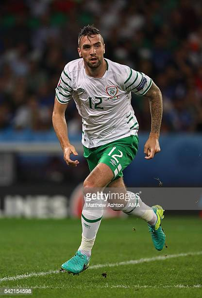 Shane Duffy of Ireland in action during the UEFA EURO 2016 Group E match between Italy and Republic of Ireland at Stade PierreMauroy on June 22 2016...