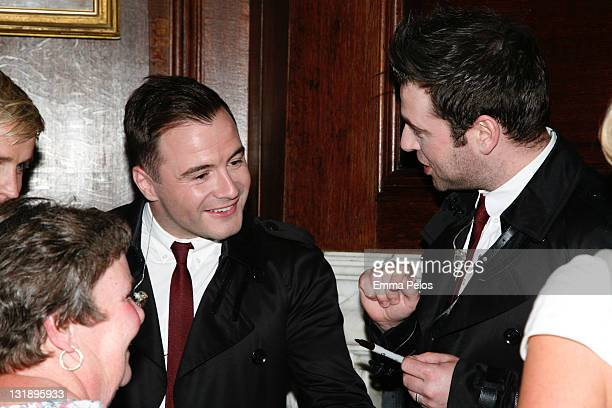 Shane Filan and Mark Feehily backstage at Hampton Court Palace Festival at Hampton Court Palace on June 10 2011 in London England