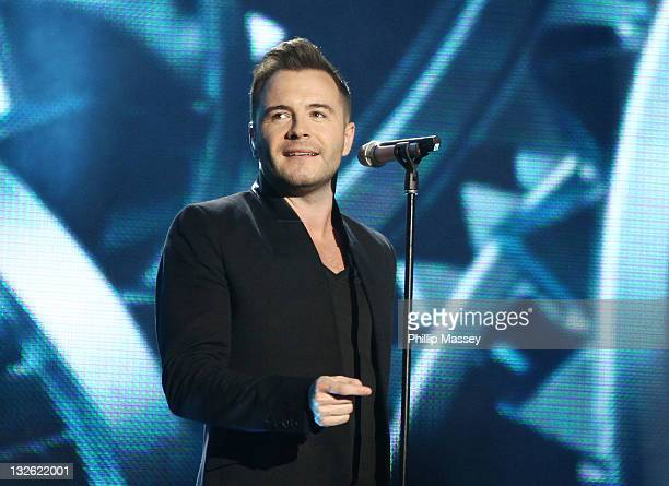 Shane Filan from Westlife performs at annual children's charity concert 'Cheerios Childline Concert' at O2 on November 12 2011 in Dublin Ireland
