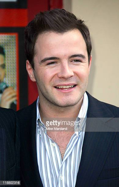 Shane Filan of Westlife during Westlife Announce Plans for 'The Red Carpet Tour' at Front Entrance Wembley Arena in London Great Britain
