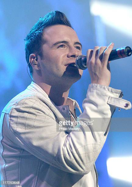Shane Filan of Westlife during Westlife in Concert at The Point in Dublin April 11 2006 at The Point in Dublin Ireland