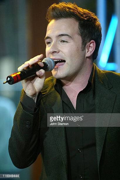 Shane Filan of Westlife during Westlife Performs on the 'Sunrise' Program March 2 2006 at Sunrise Studios in Sydney NSW Australia