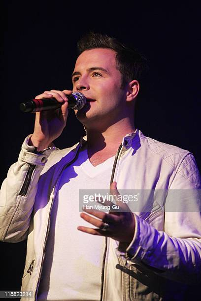 Shane Filan of Westlife during Westlife's 'Face to Face' Asian Tour in Seoul at Jamsil Concert Hall in Seoul Seoul South Korea