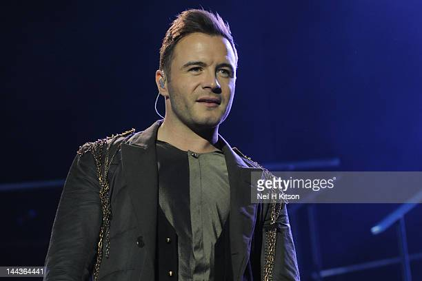 Shane Filan of Westlife performs on stage at Motorpoint Arena on May 13 2012 in Sheffield United Kingdom