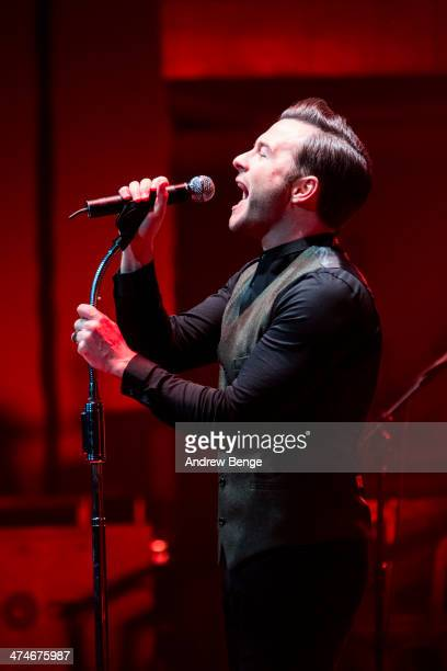 Shane Filan performs on stage at Bridgewater Hall on February 24 2014 in Manchester United Kingdom