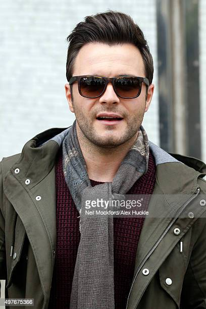 Shane Filan seen leaving the ITV Studios after an appearance on 'Lorraine' with Nadine Coyle on November 18 2015 in London England Photo by Neil...