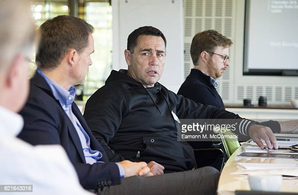 Shane Flanagan Coach of the Cronulla Sharks during the Leaders P8 Summit at the National Tennis Centre on November 7 2016 in London England
