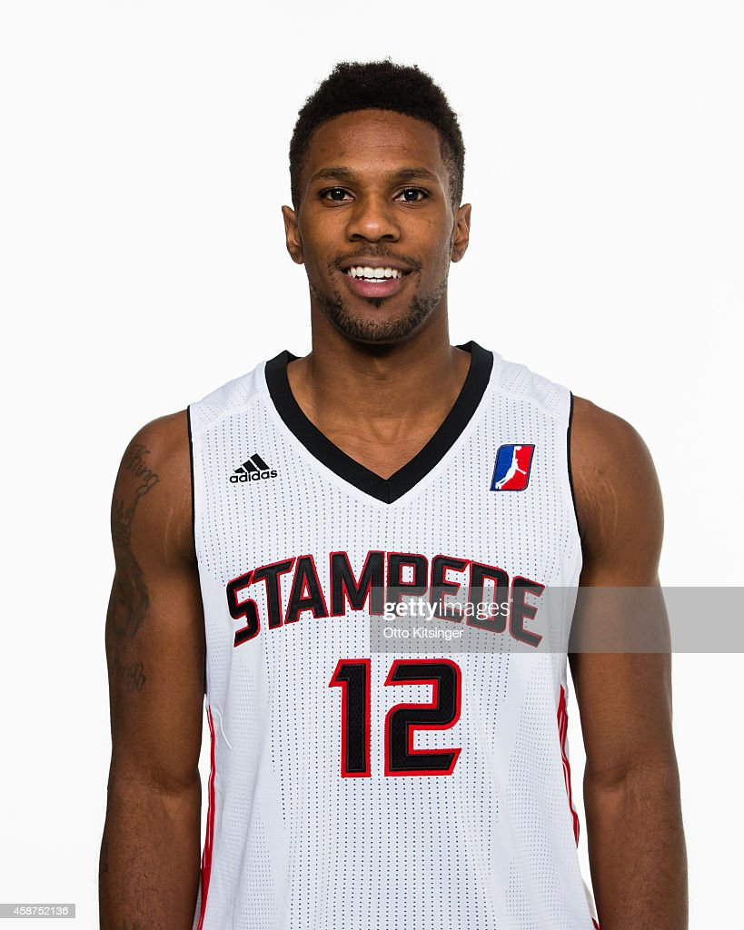 Shane Gibson of the Idaho Stampede poses for a portrait during Media Day on November 9 2014 at CenturyLink Arena in Boise Idaho NOTE TO USER User...