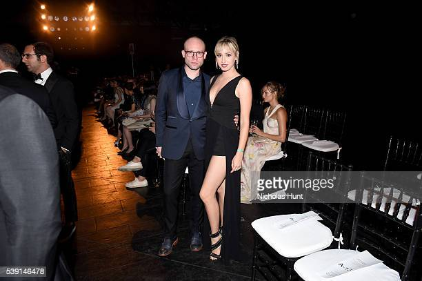 Shane Kidd and Jazmin Grace Grimaldi attend the 7th Annual amfAR Inspiration Gala at Skylight at Moynihan Station on June 9 2016 in New York City