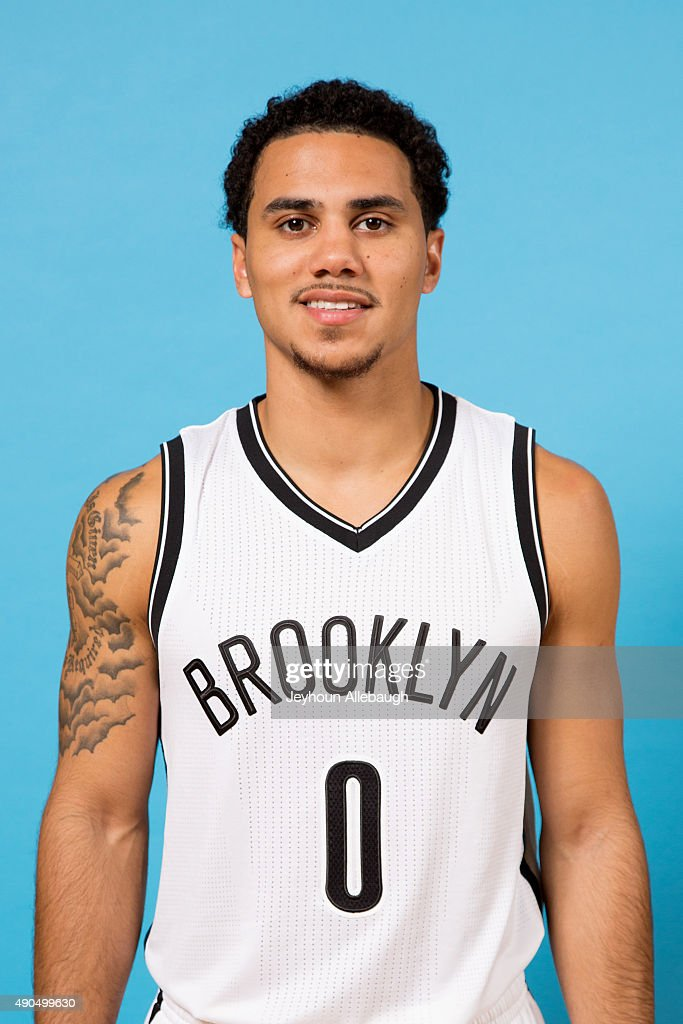 Shane Larkin of the Brooklyn Nets poses for a photo during media day on September 28 2015 in East Rutherford NJ NOTE TO USER User expressly...