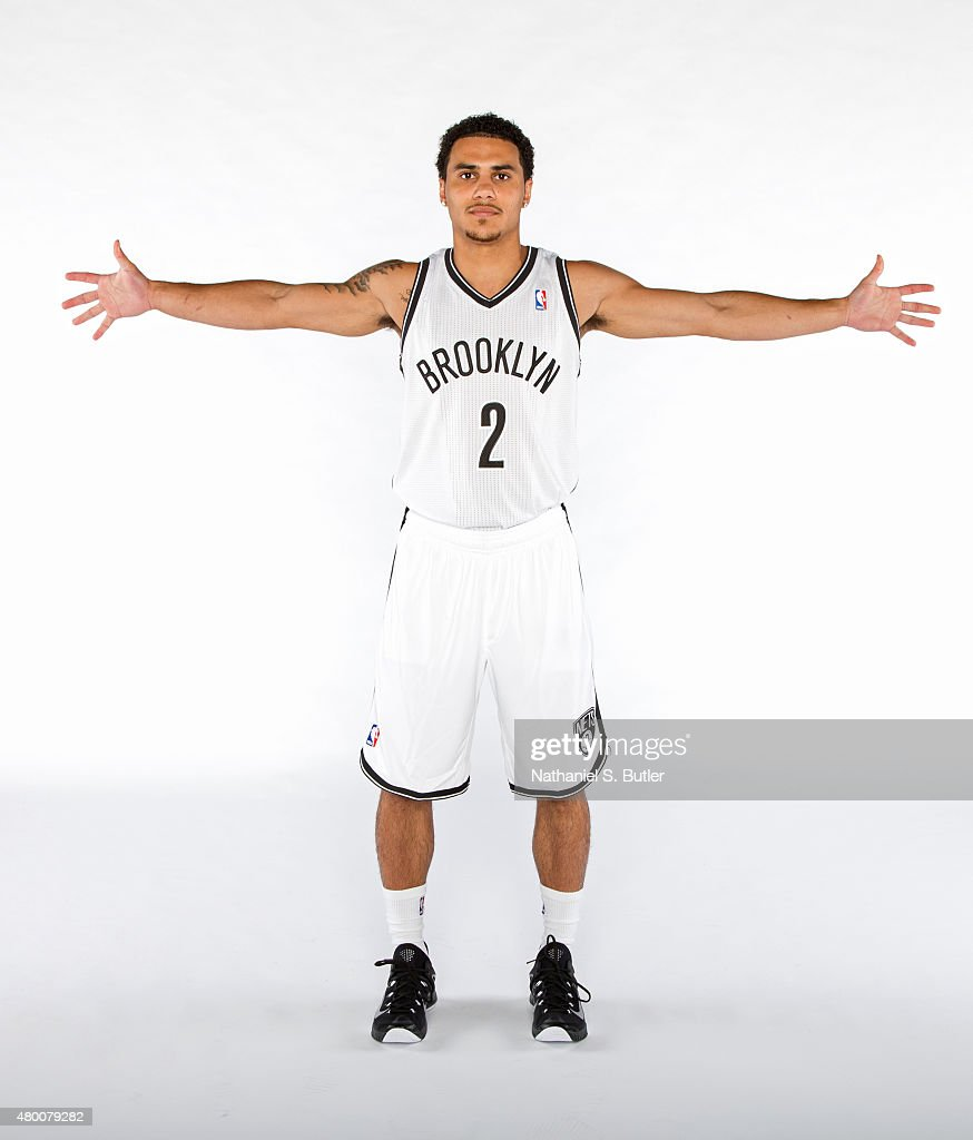 Shane Larkin of the Brooklyn Nets poses for a portrait on July 09 2015 at Barclays Center in Brooklyn New York NOTE TO USER User expressly...