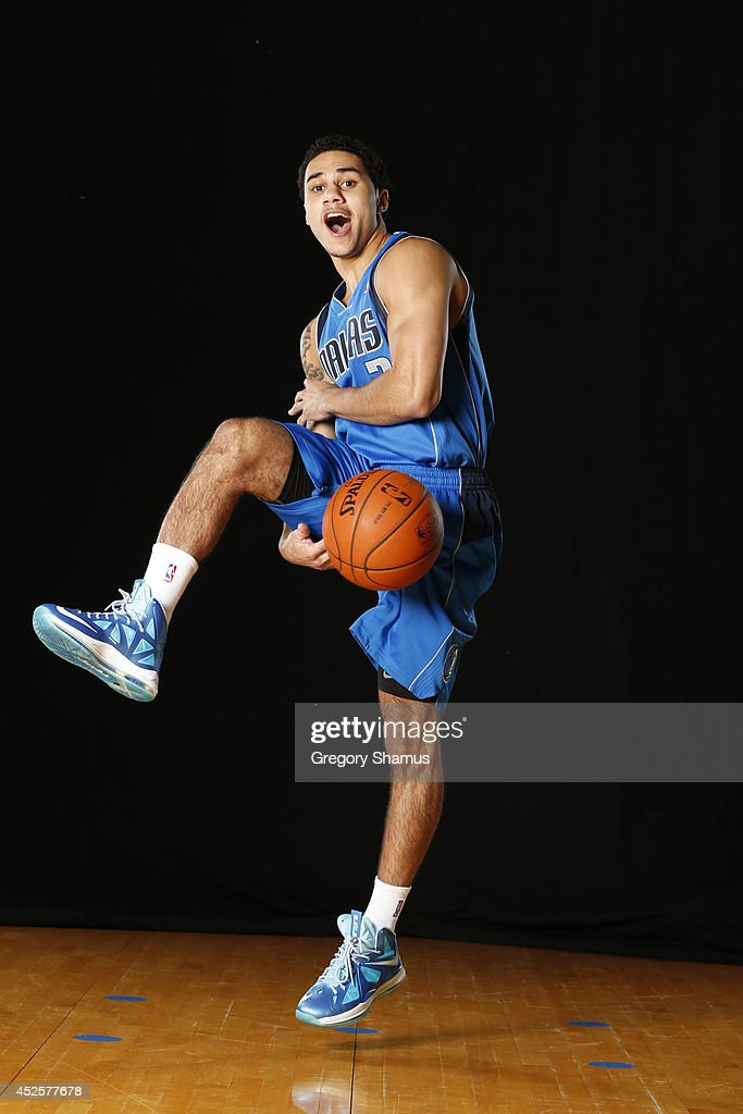 Shane Larkin #3 of the Dallas Mavericks poses for a portrait during the 2013 NBA rookie photo shoot on August 6, 2013 at the Madison Square Garden Training Facility in Tarrytown, New York.